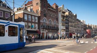 Stadtzentrum von Amsterdam