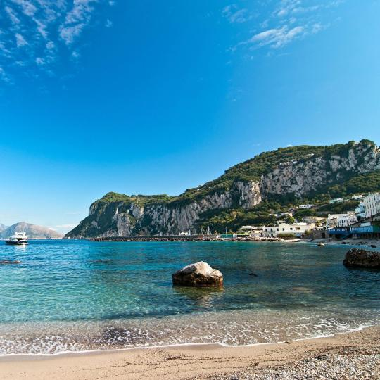 Pristine beaches of Capri Island