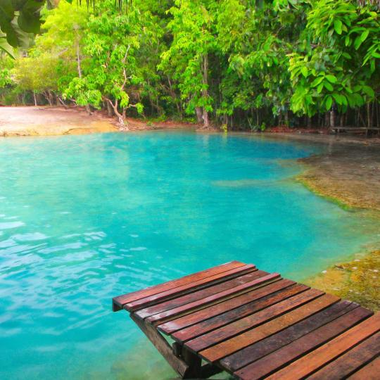 Het smaragdzwembad