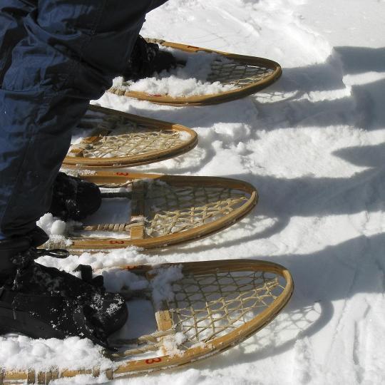 Sneeuwschoenen in skiresort Les Rousses