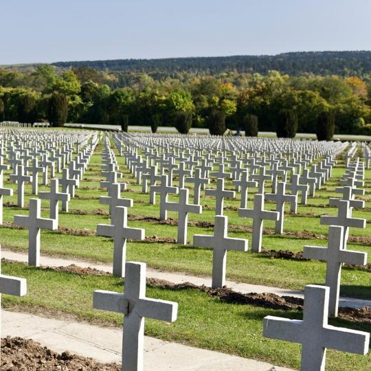Schlachtfeld Verdun und Soldatenfriedhof Lorraine