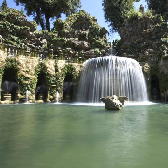 Fountains at Villa D'Este in Tivoli