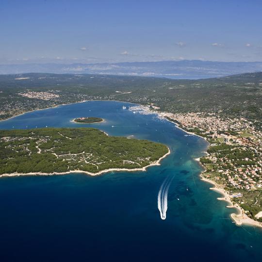 Malerische kleine Insel Košljun