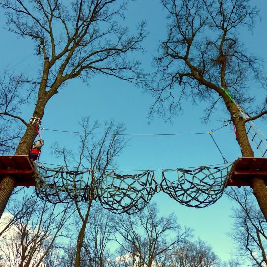 High-rope walking amongst Pfalzen's treetops