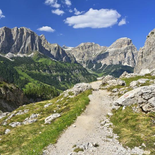 The Trek of the Legends in the Dolomites