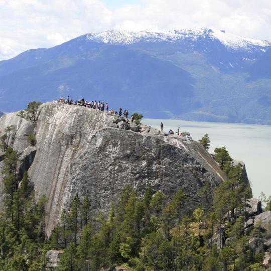 Hiking and rock climbing at Stawamus Chief