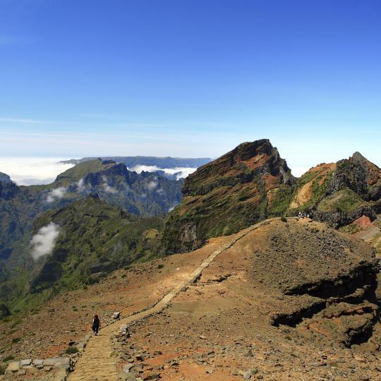Bovenop de Pico Ruivo