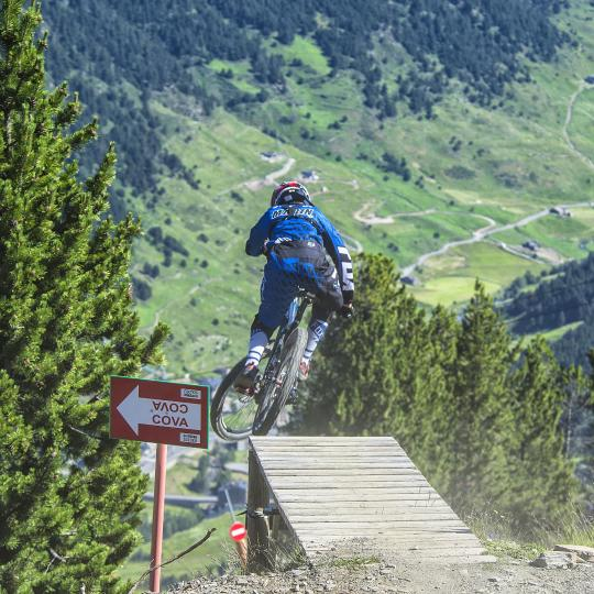 Mountain biking in Soldeu Bikepark