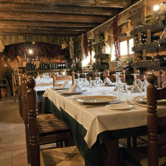 Traditional 'bordas' mountain restaurants