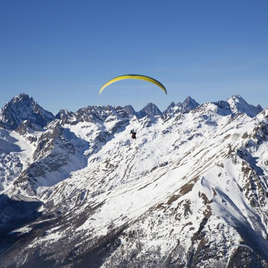 Paragliding from Col Rodella