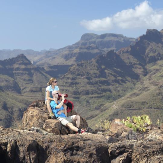 Trekking en la región de Tejeda