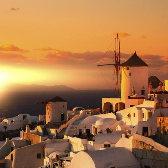 Watch the sunset in Oia