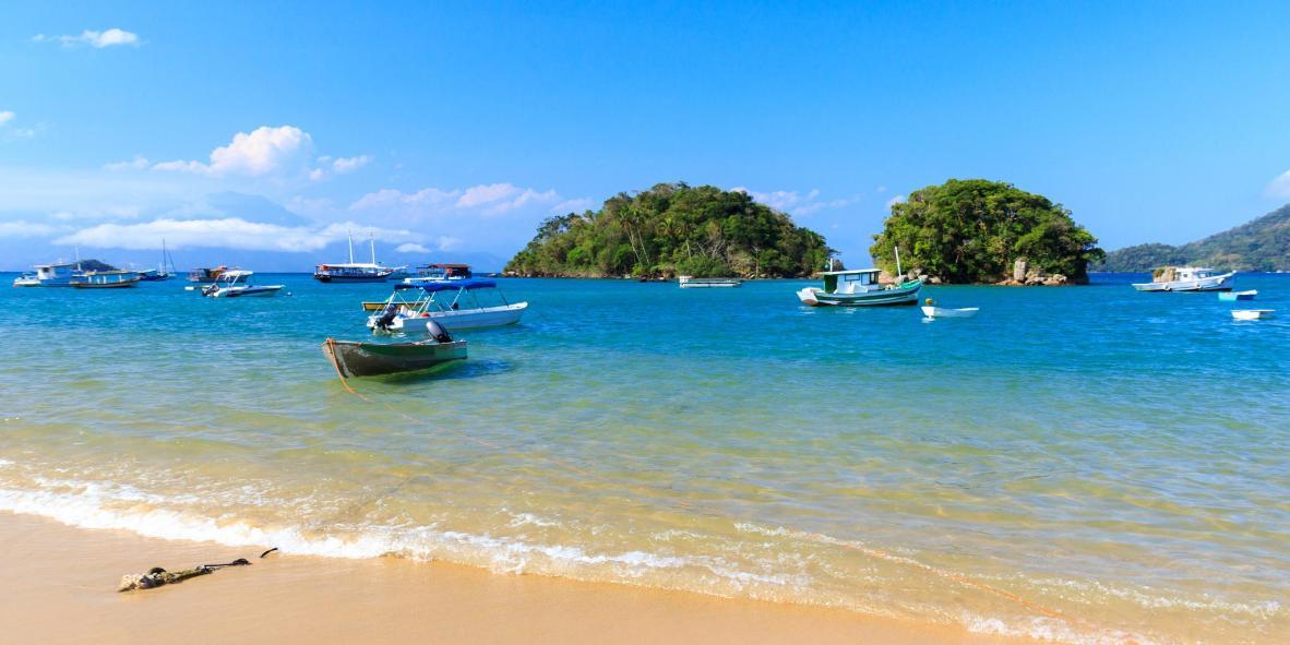 Take a boat to the paradisiacal tropical island of Ilha Grande