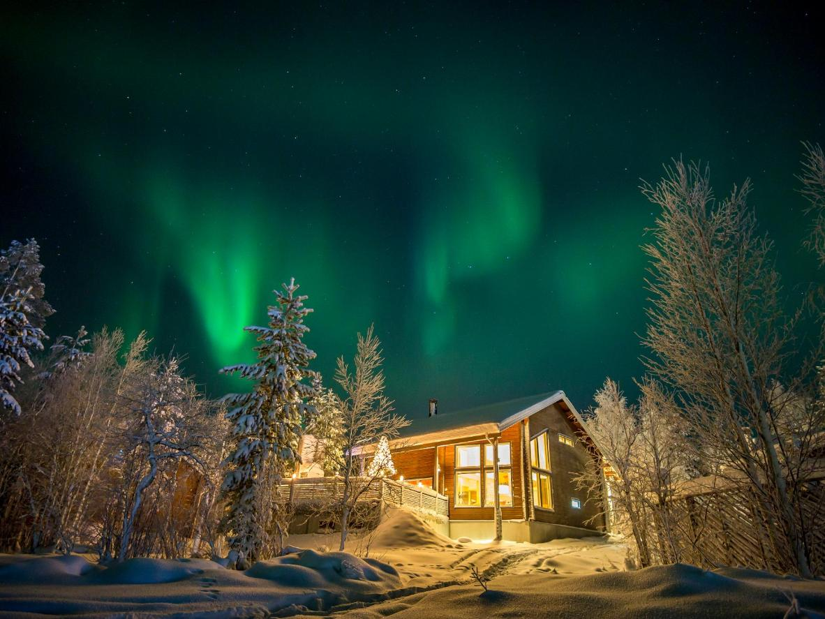 The winter season offers the best chances of seeing the northern lights