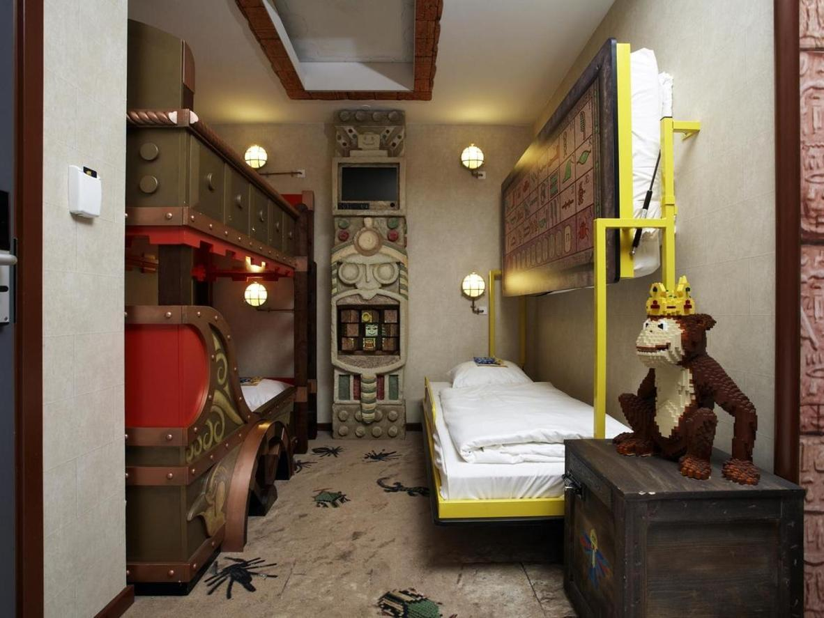 With amazing themed rooms it may be difficult to convince your little ones to explore what else the hotel offers