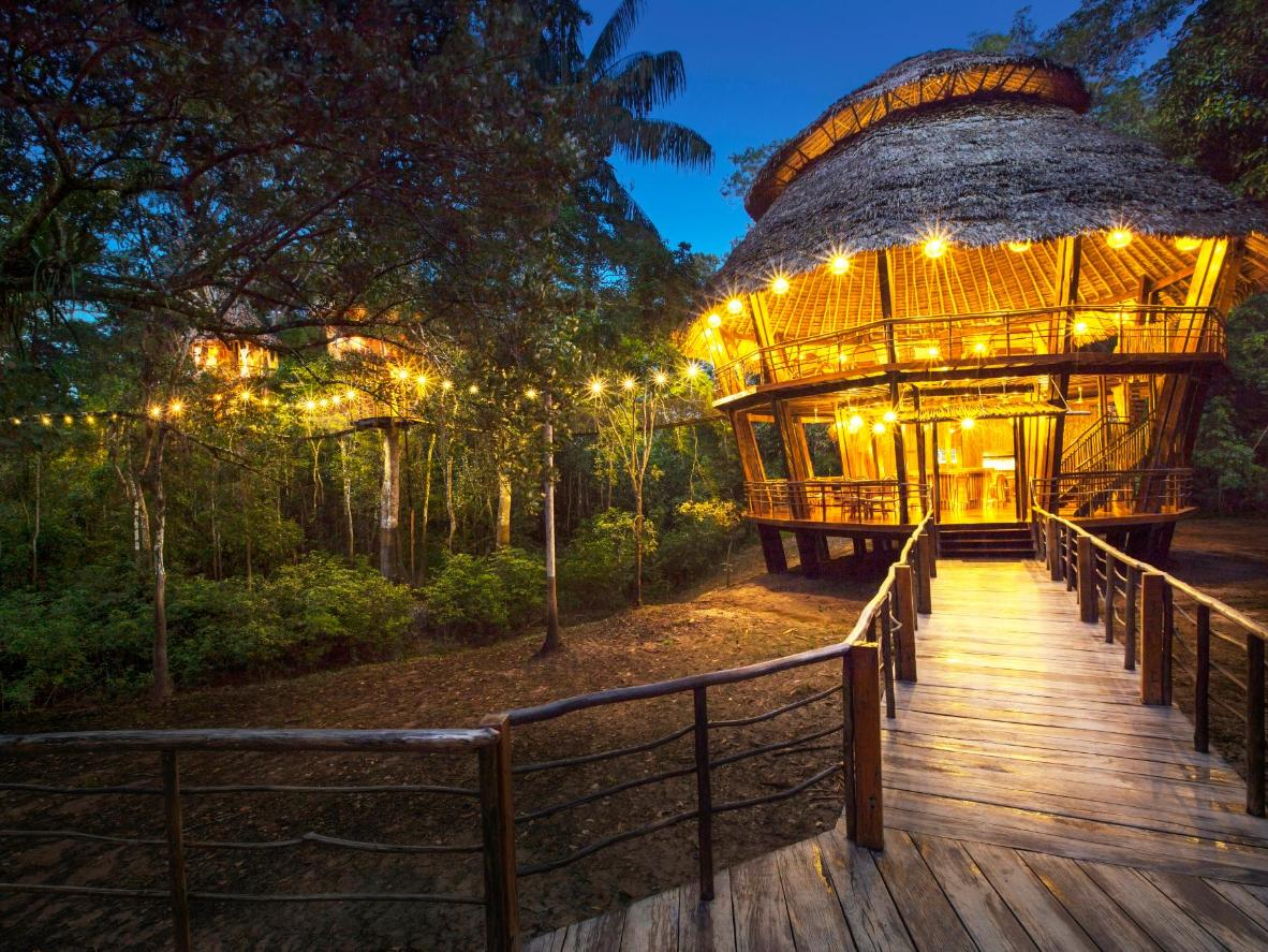 Escape to the Amazon in these mystical tree huts