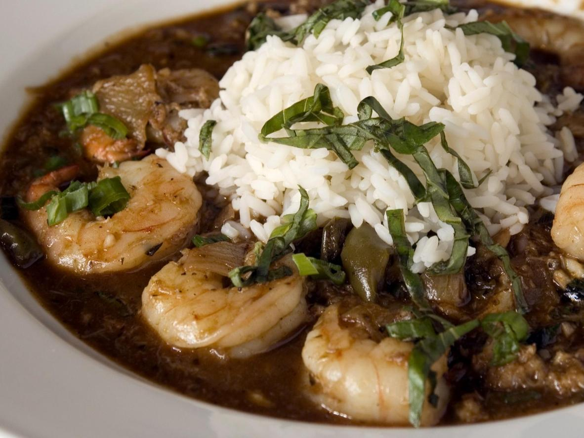 Seafood simmered and smothered in a rich sauce