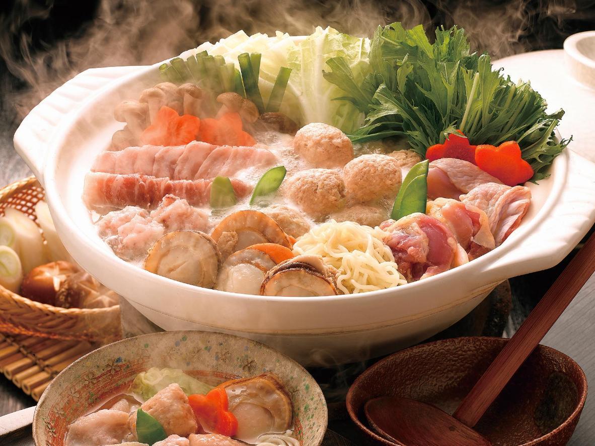 Overflowing bowls of sumo wrestler fuel