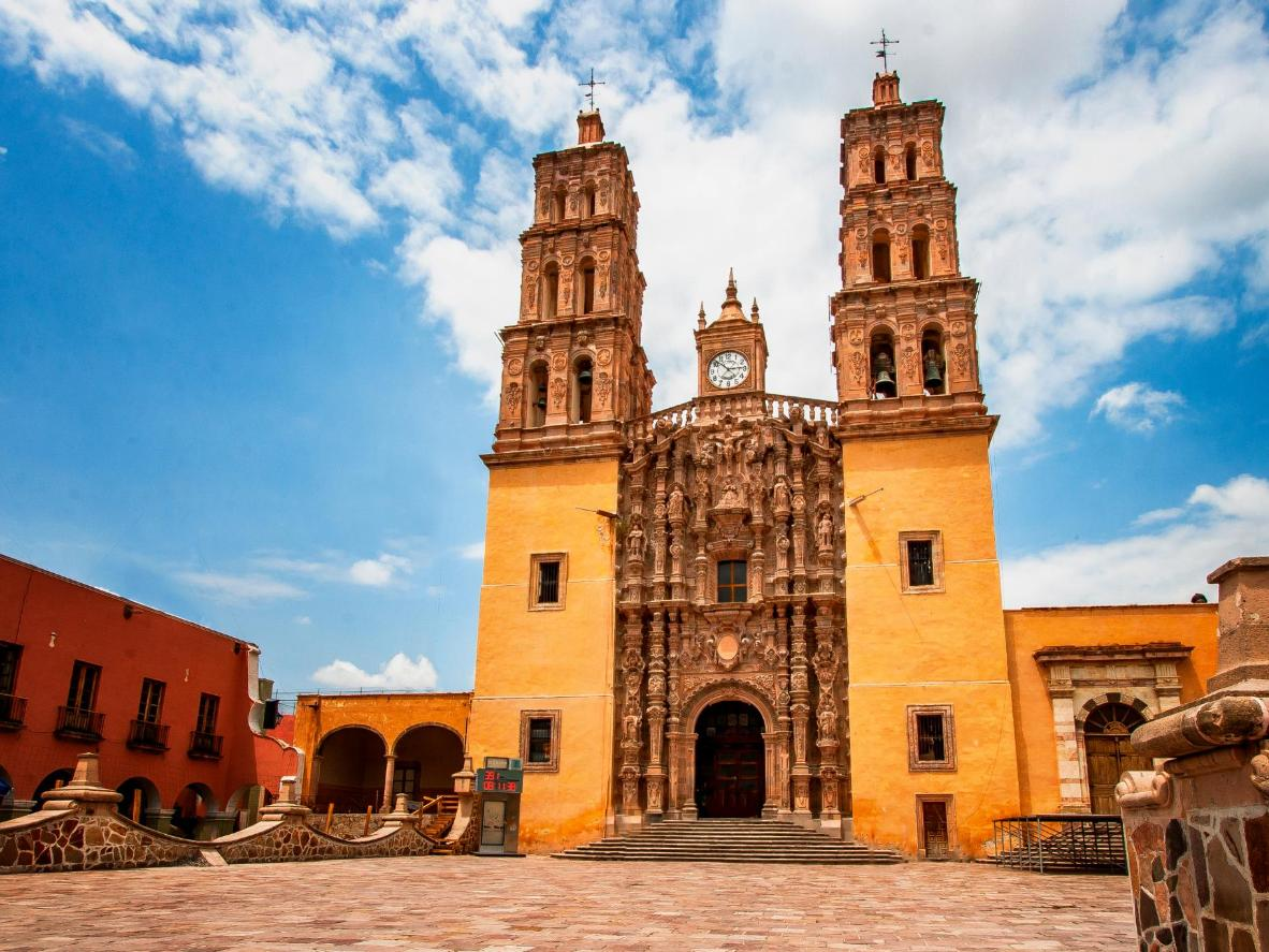 The elaborate baroque Basilica of Our Lady of Ocotlán is a must-see for visitors to Tlaxcala de Xicohtencatl