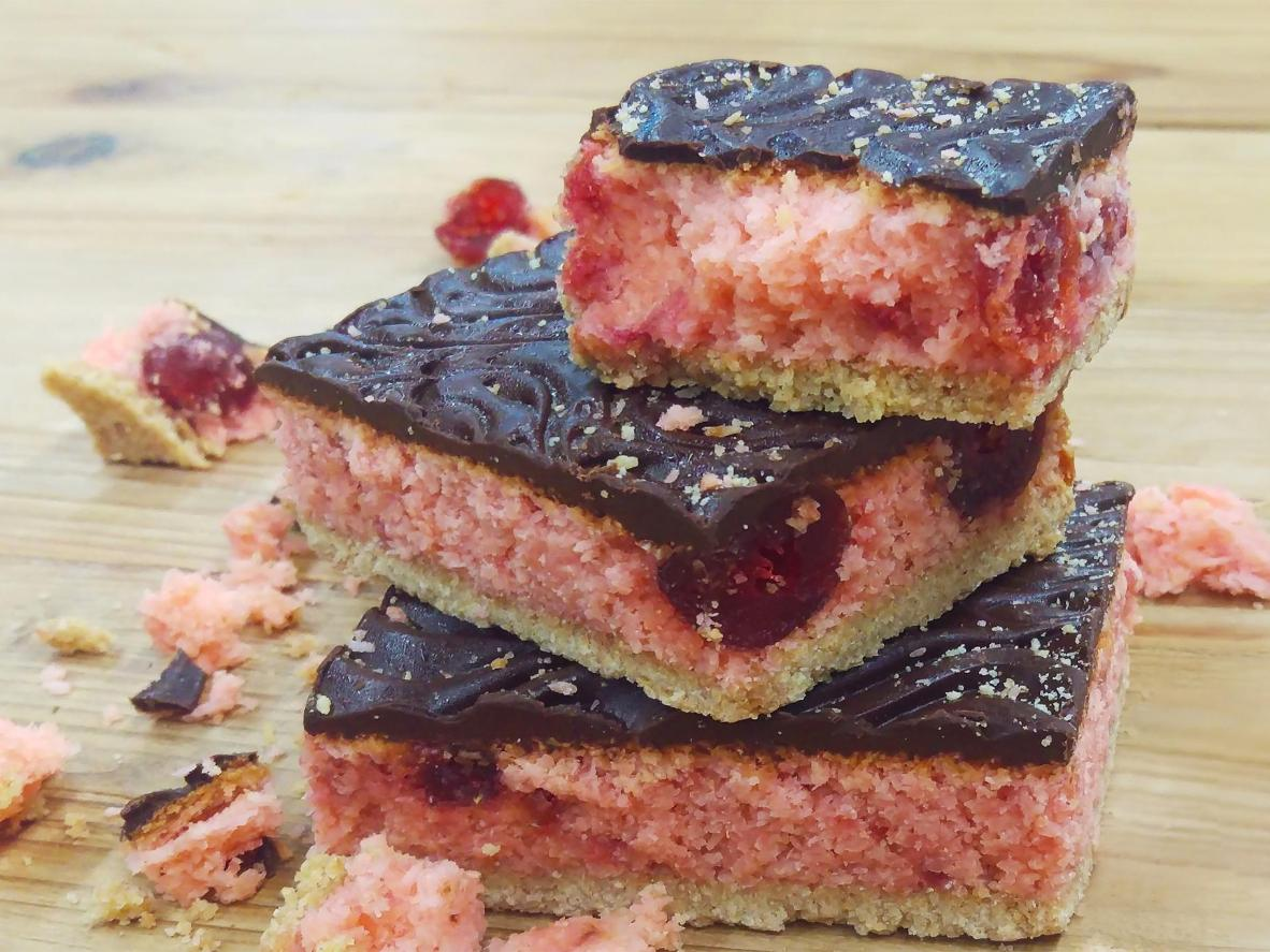 The cherry on top of a slice of chocolate decadence