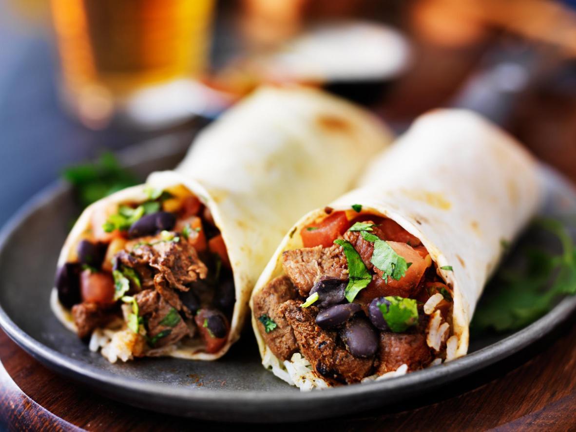 Mission-style burrito