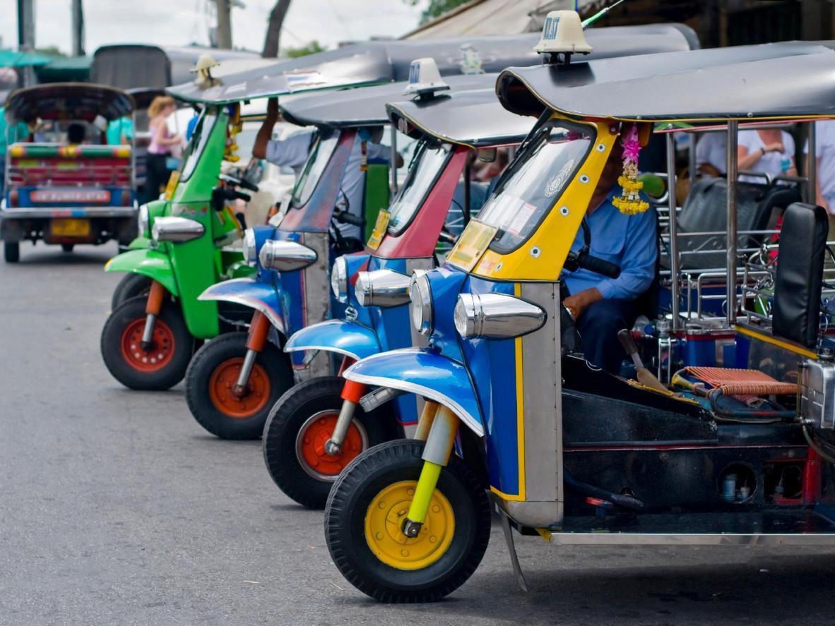 Tuk Tuks are a popular way to get around