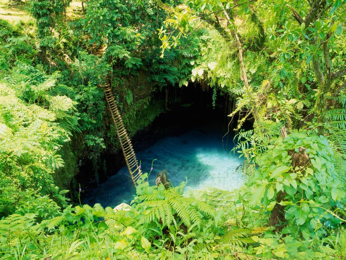 Swim in the surreal Sua Ocean Trench