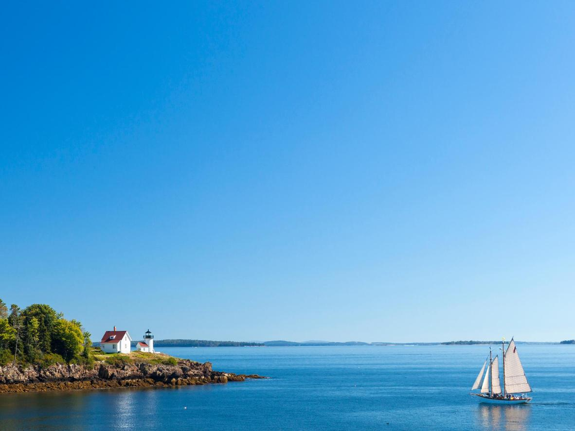 The coastline of Maine, best explored by boat