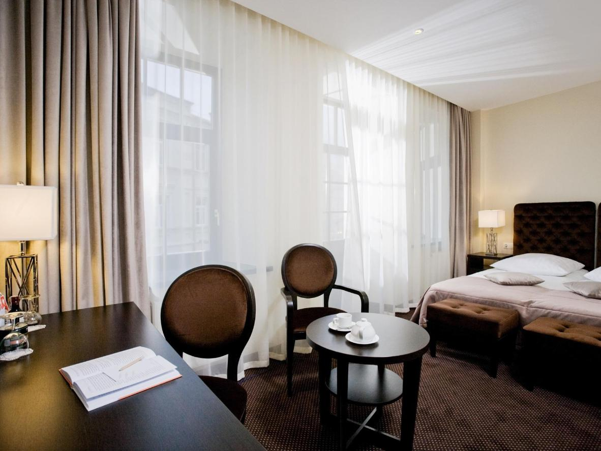 A room at the refined Amberton Hotel, Vilnius