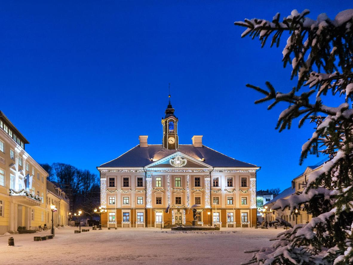 Historic Tartu is captivating on NYE when covered in snow