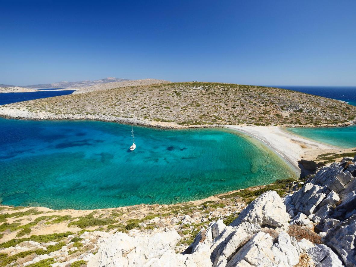 One of Astypalaia's paradisiacal coves