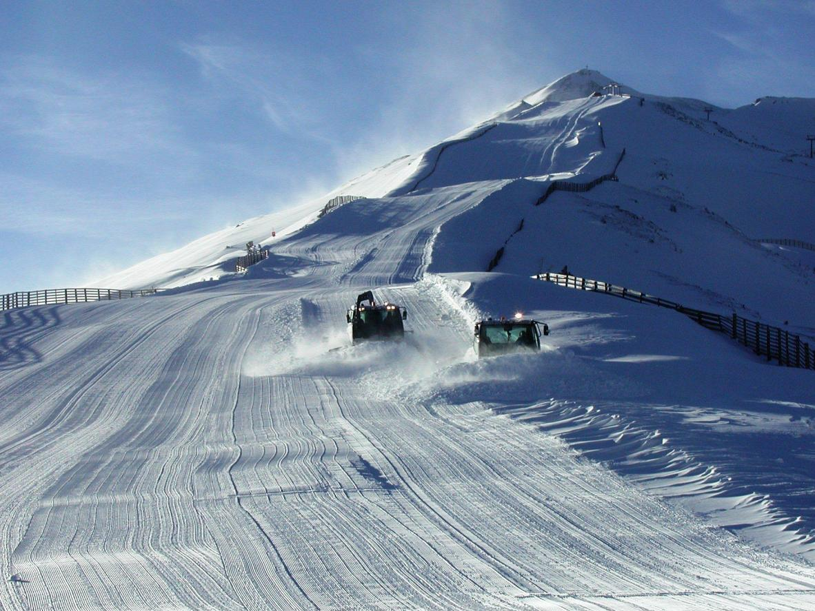 Well-groomed slopes in Mauterndorf, Austria