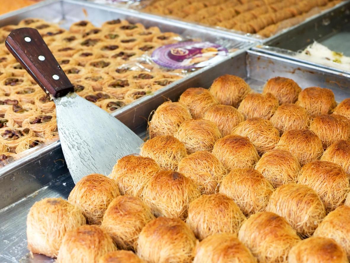 Irresistible pastry 'siropiastá' in Thessaloniki, Greece