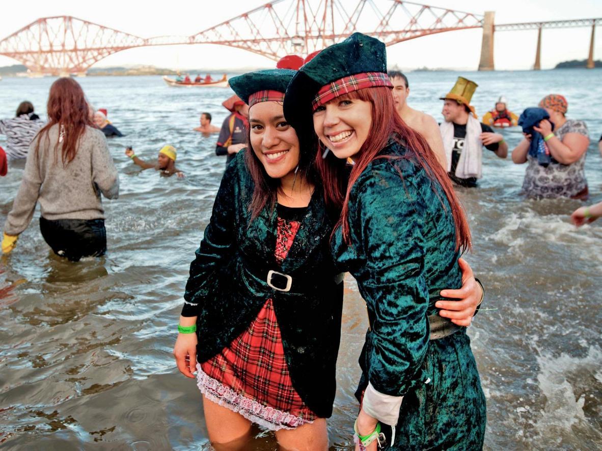 For Scotland's Loony Dock swimmers dress fancy