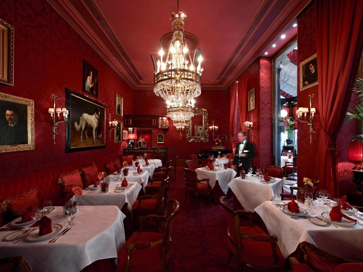 The plush interiors of Austria's Hotel Sacher Wein