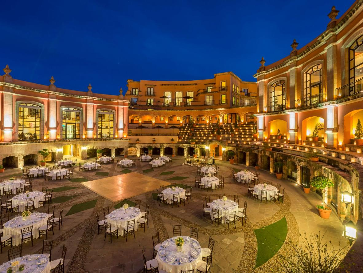 Immerse yourself in Mexican culture and history in this hotel, built around a 15th-century bullring