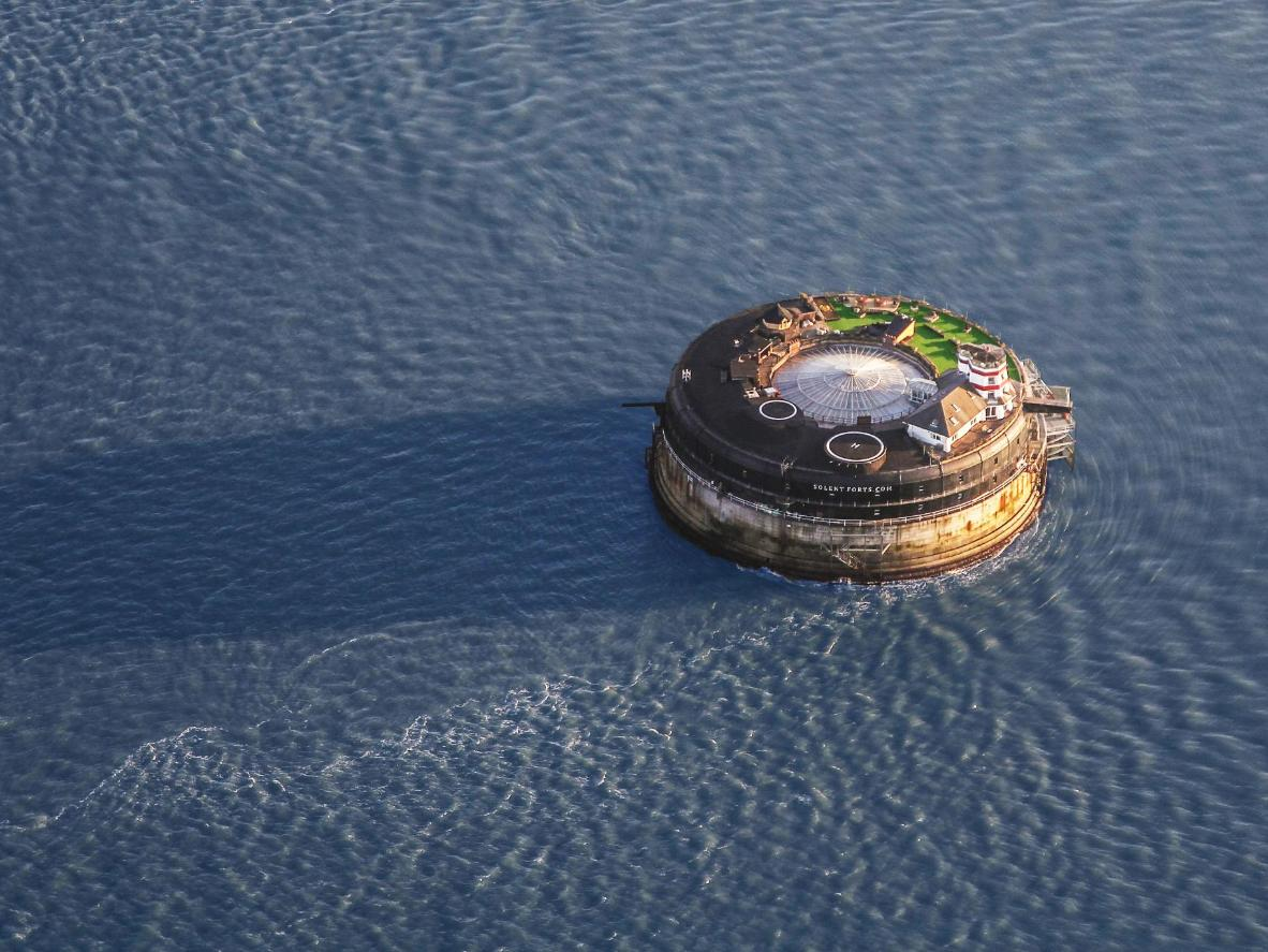 Stay in a 19th-century sea fort that's been transformed into a luxury hotel