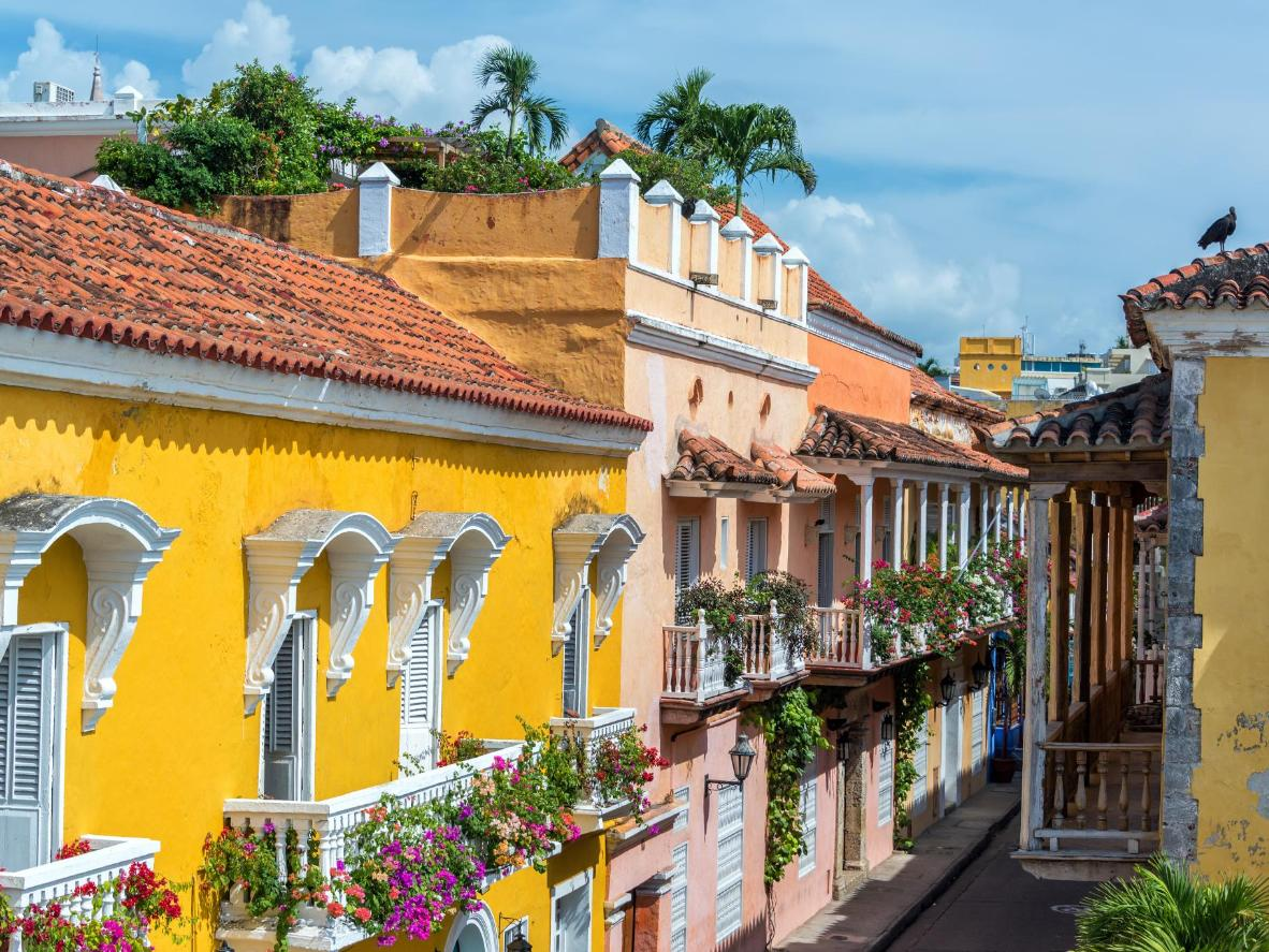 Cartagena is a riot of colour