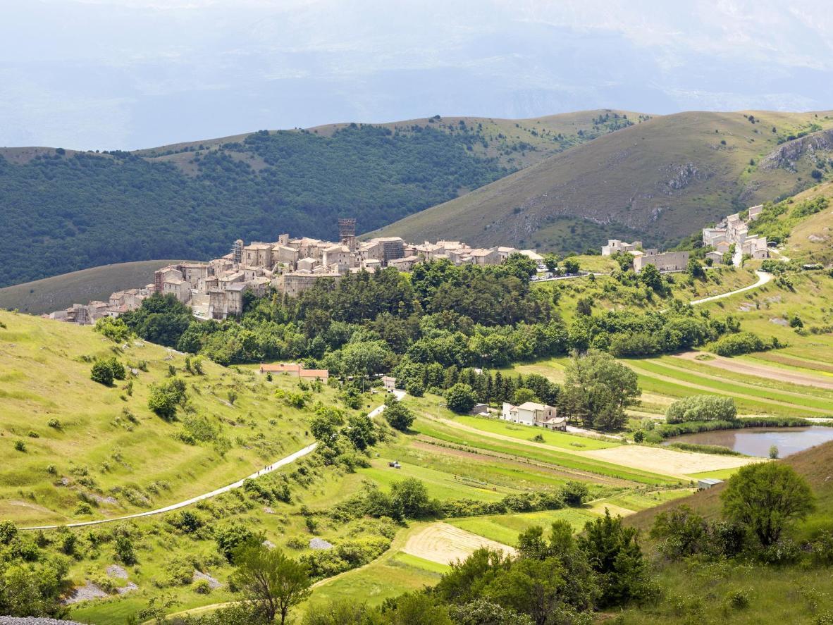 Santo Stefano di Sessanio is a hill town in the Province of L'Aquila in the Abruzzo, Italy