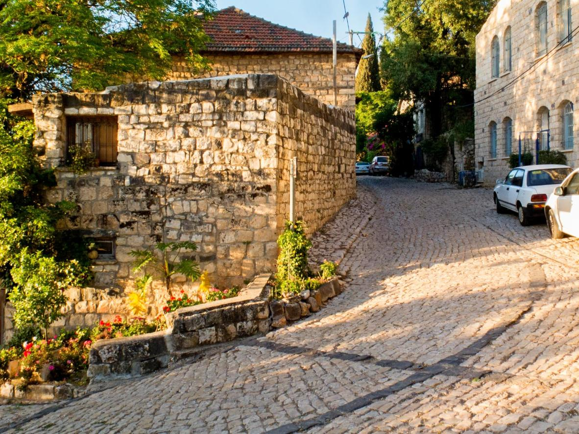 The city of Old Rosh Pina in northern Israel, founded in 1878.