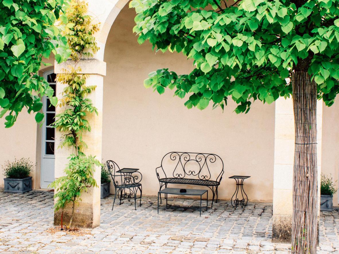 A typical terrace in La Colle sur Loup, France