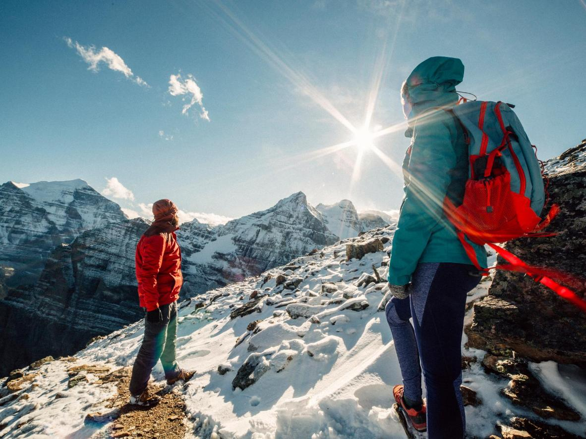 Hiking the trails in Banff National Park is the perfect après-ski activity