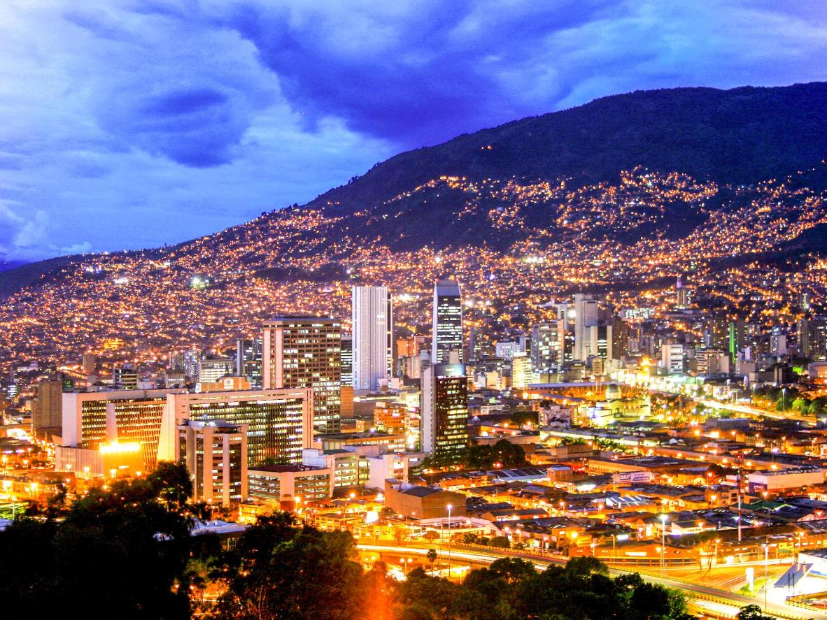 Attend a rooftop pool party and enjoy glittering views in Medellín, Colombia