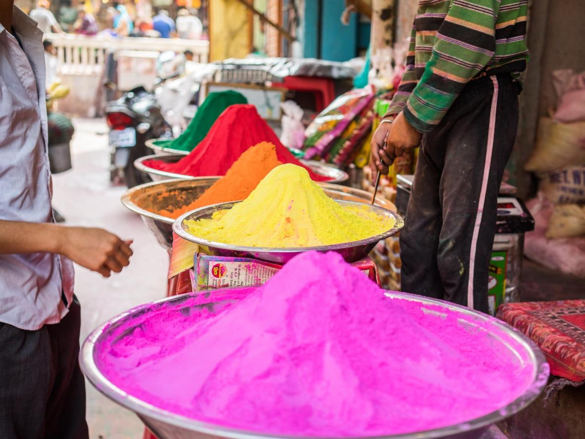 The town of Nandgaon gets a headstart on Holi with celebrations starting a few days early