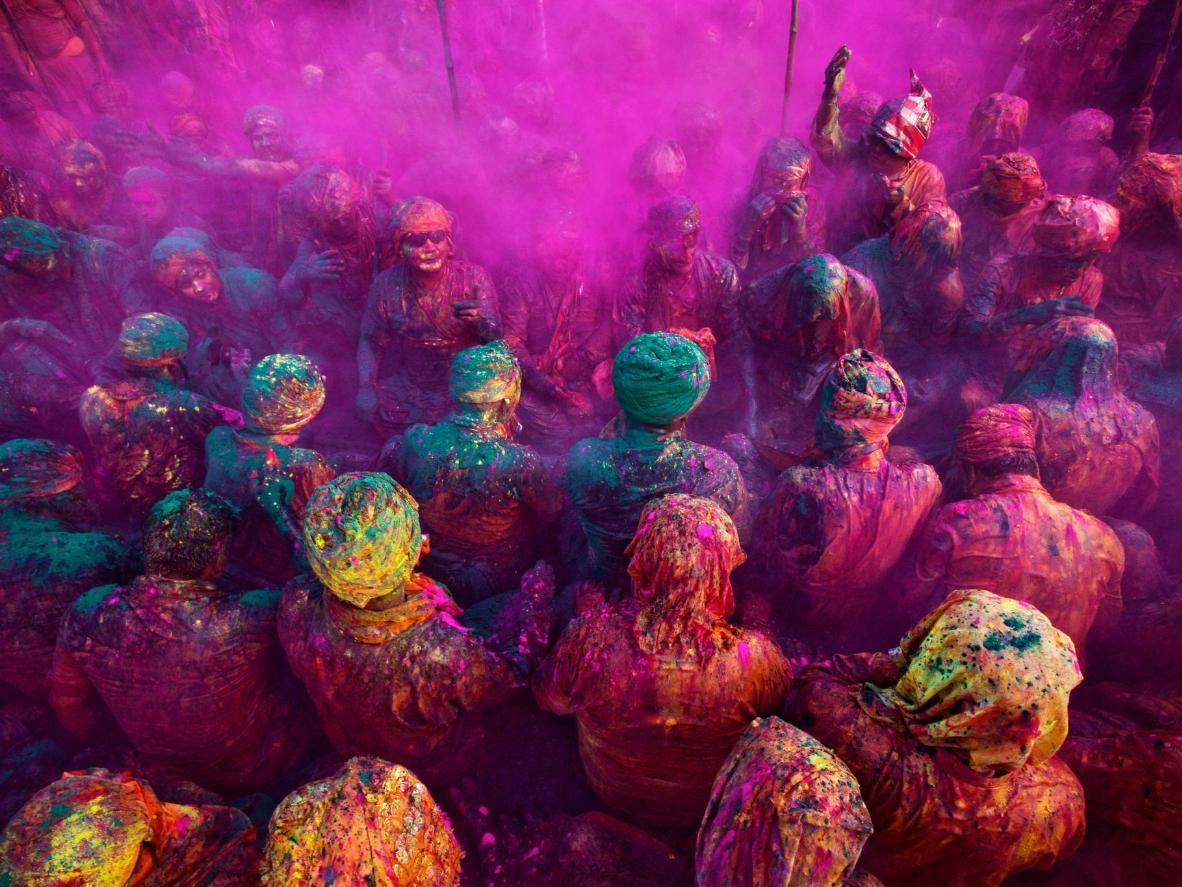 The celebratory spirit of Holi has roots in the town of Gujarat