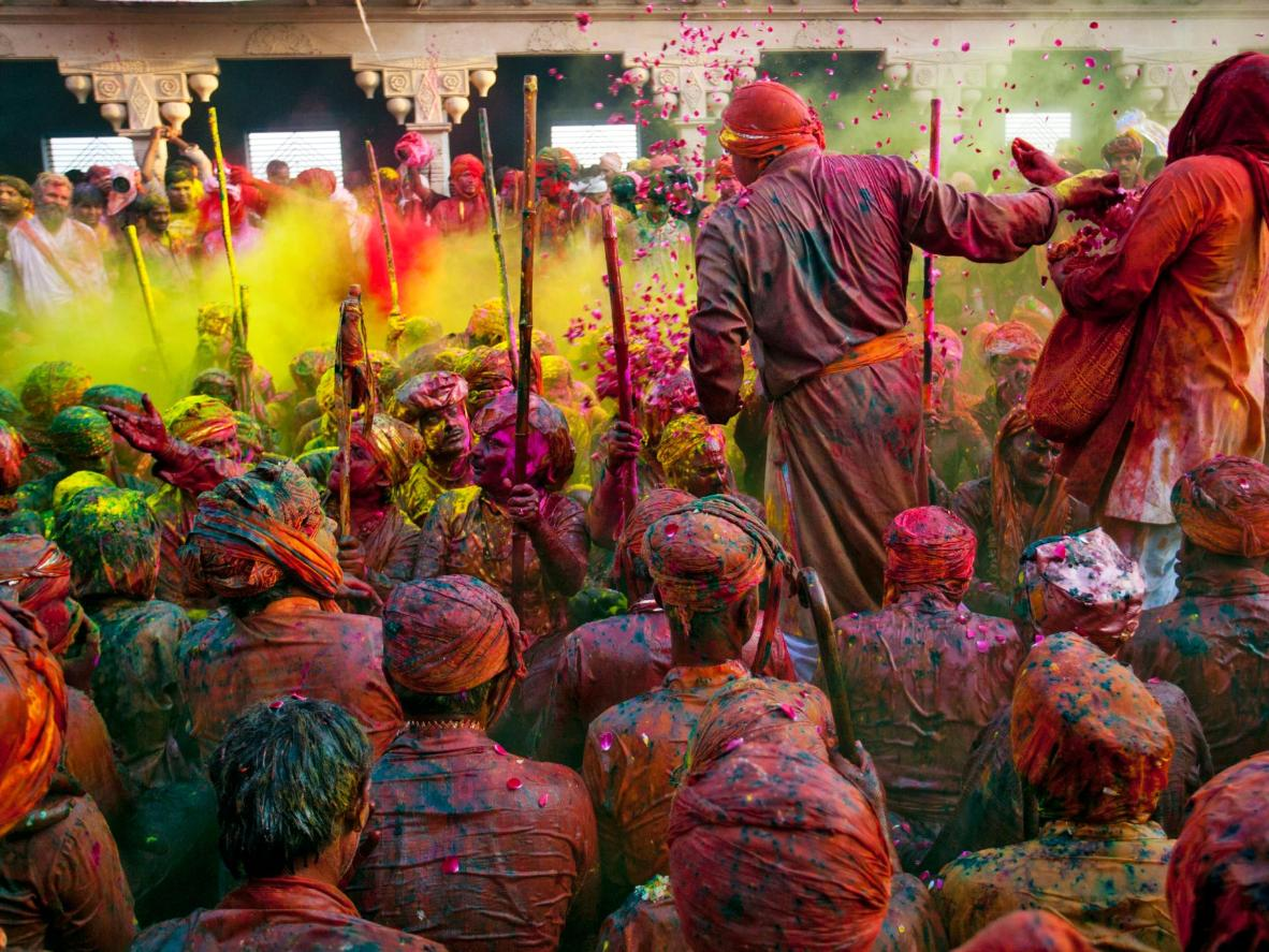 India isn't the only country that celebrates Holi - neighbouring Nepal also joins the festivities