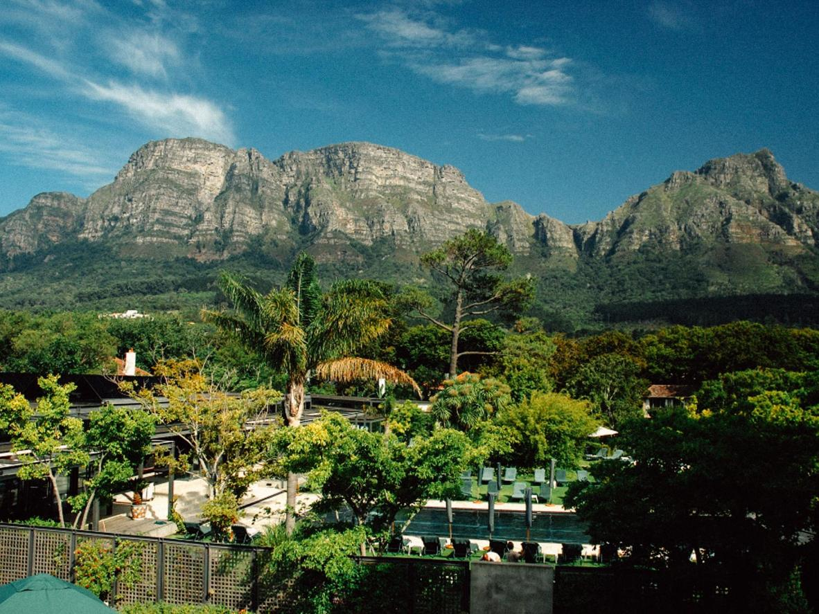 Table Mountain views at Vineyard Hotel, South Africa