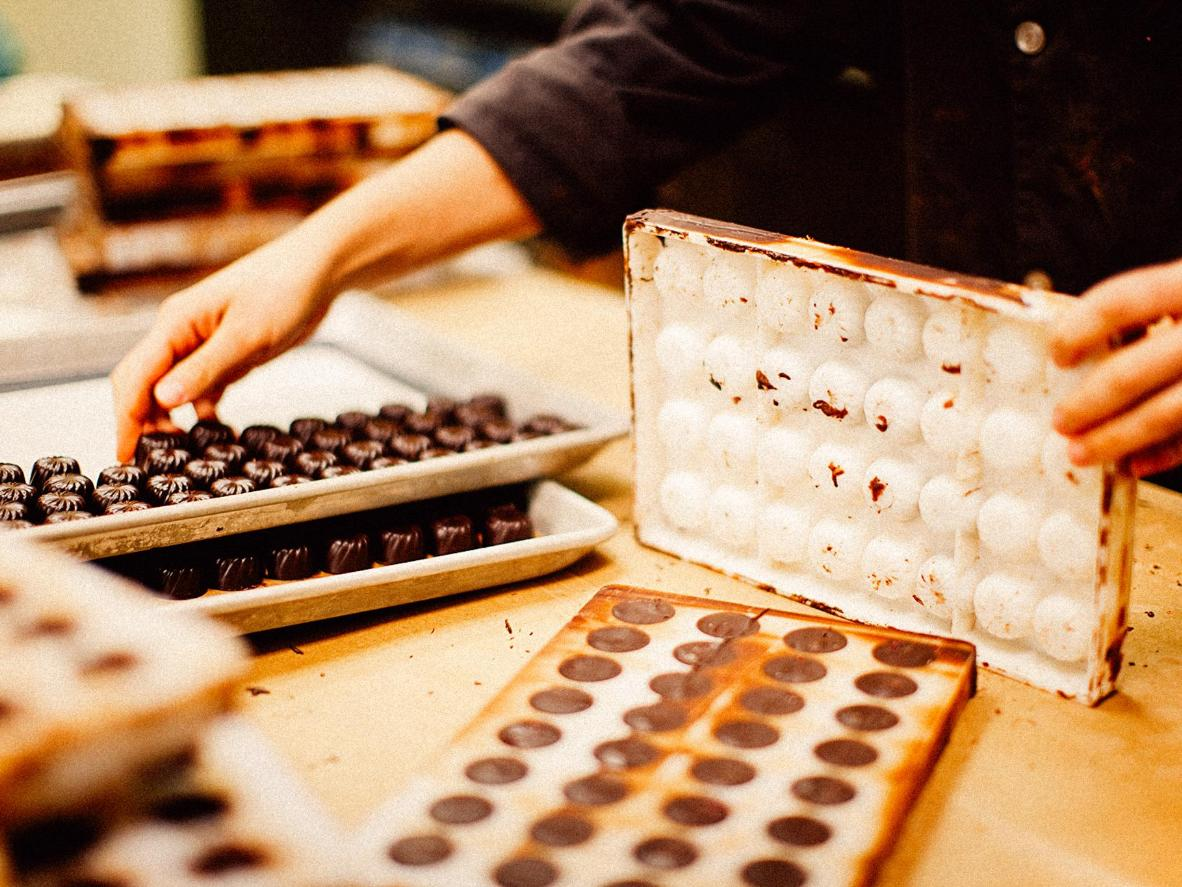 Take a tour of the chocolaterie in foodie destination, Yarra Glen