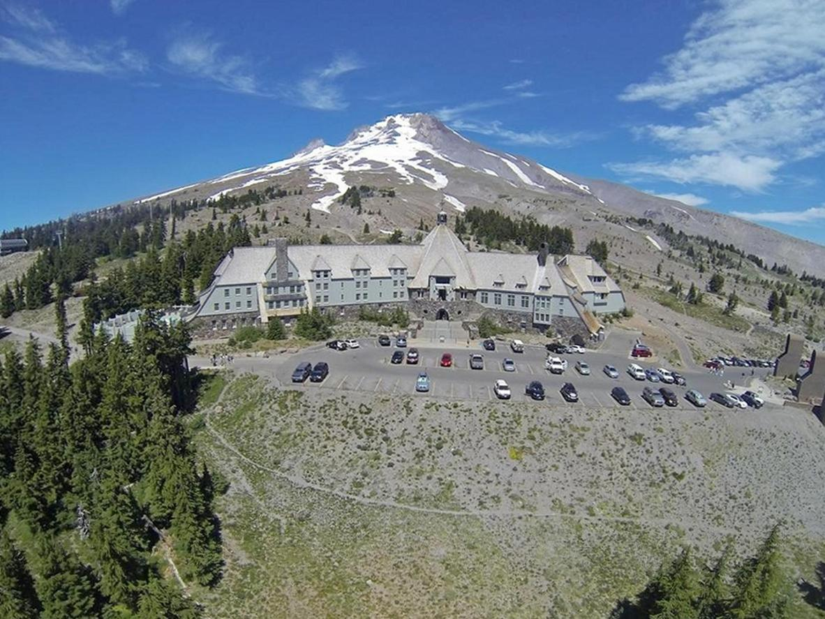 Timberline Lodge is instantly recognisable as the Overlook Hotel