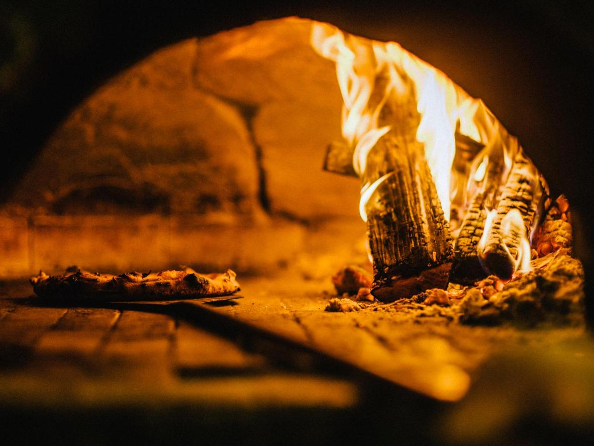 Traditional wood-burning ovens give Napoli pizza a crunchy bite